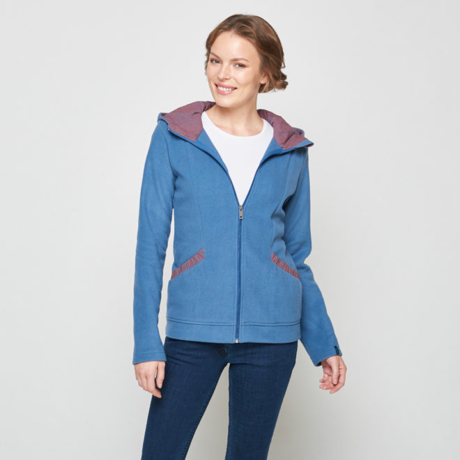 Sweat bleu polaire -aloa