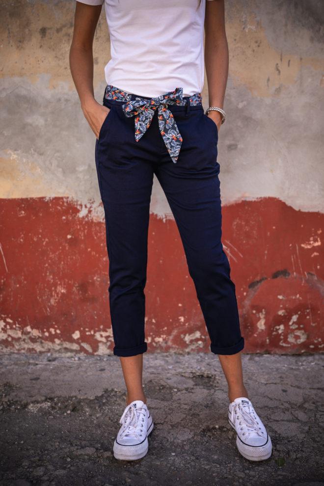Pantalon femme marine aloa