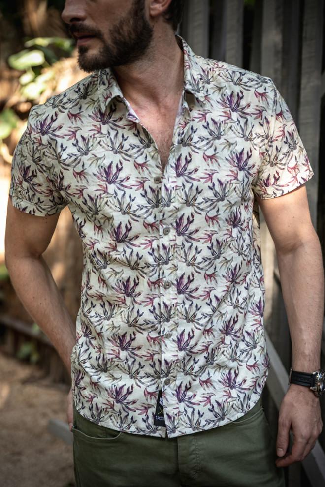 Chemise manche courte homme aloa